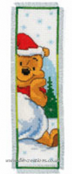 Disney Winnie The Pooh Playing With Snow Bookmark Cross Stitch Kit